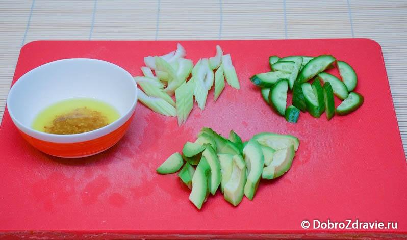 Зеленый салат - вегетарианский рецепт приготовления с фото