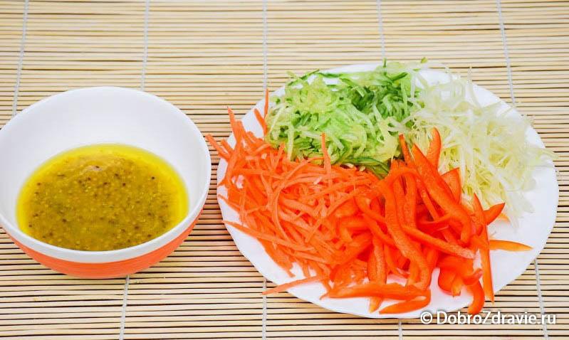 Салат с проростками маша – вегетарианский рецепт приготовления с фото