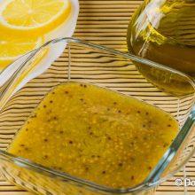 Соус из оливкового масла и горчицы