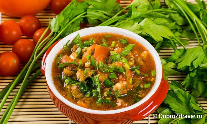 Соус из помидоров и чеснока - вегетарианский рецепт приготовления с фото