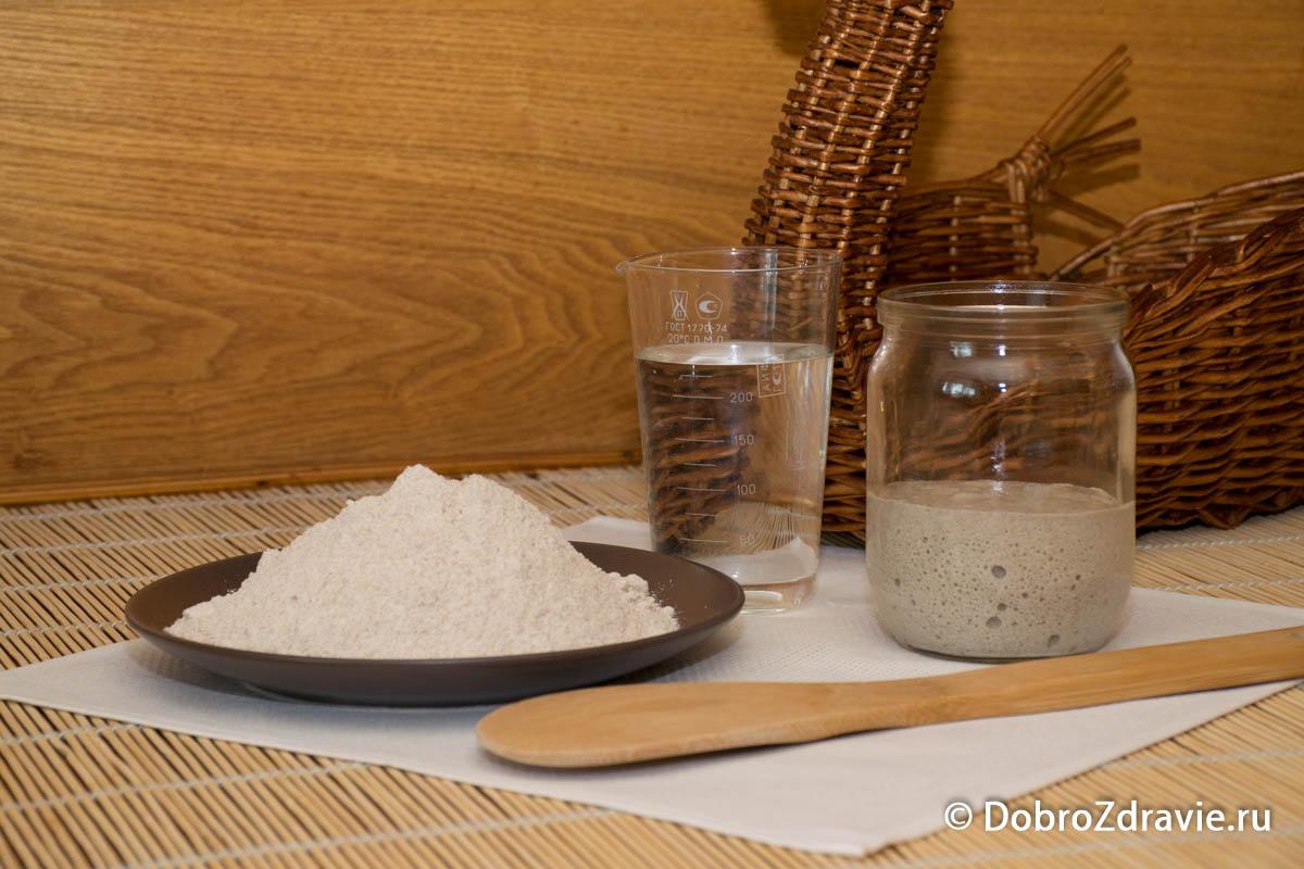 Опара для домашнего хлеба без дрожжей – пошаговый рецепт приготовления с фото