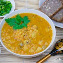 Гороховый суп-пюре с овощами (дал)