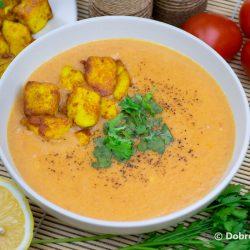 Томатный суп-пюре (Таматар ка суп) из свежих помидор – индийский пошаговый рецепт приготовления с фото