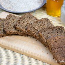 Чёрный цельнозерновой хлеб с солодом и отрубями на закваске