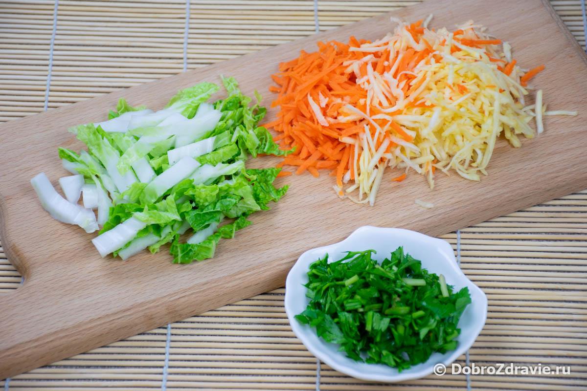 Вкусный салат из репы – вегетарианский пошаговый рецепт приготовления с фото