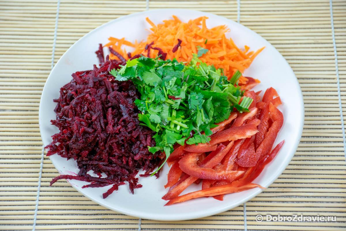 Салат из сырой свёклы и моркови – вегетарианский пошаговый рецепт приготовления с фото
