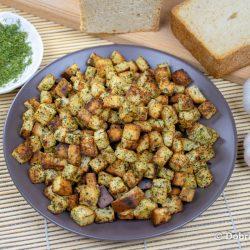 Сухарики из хлеба с чесноком на сковороде в домашних условиях – пошаговый рецепт приготовления с фото