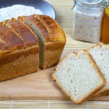 Пшеничный белый хлеб на ржаной закваске