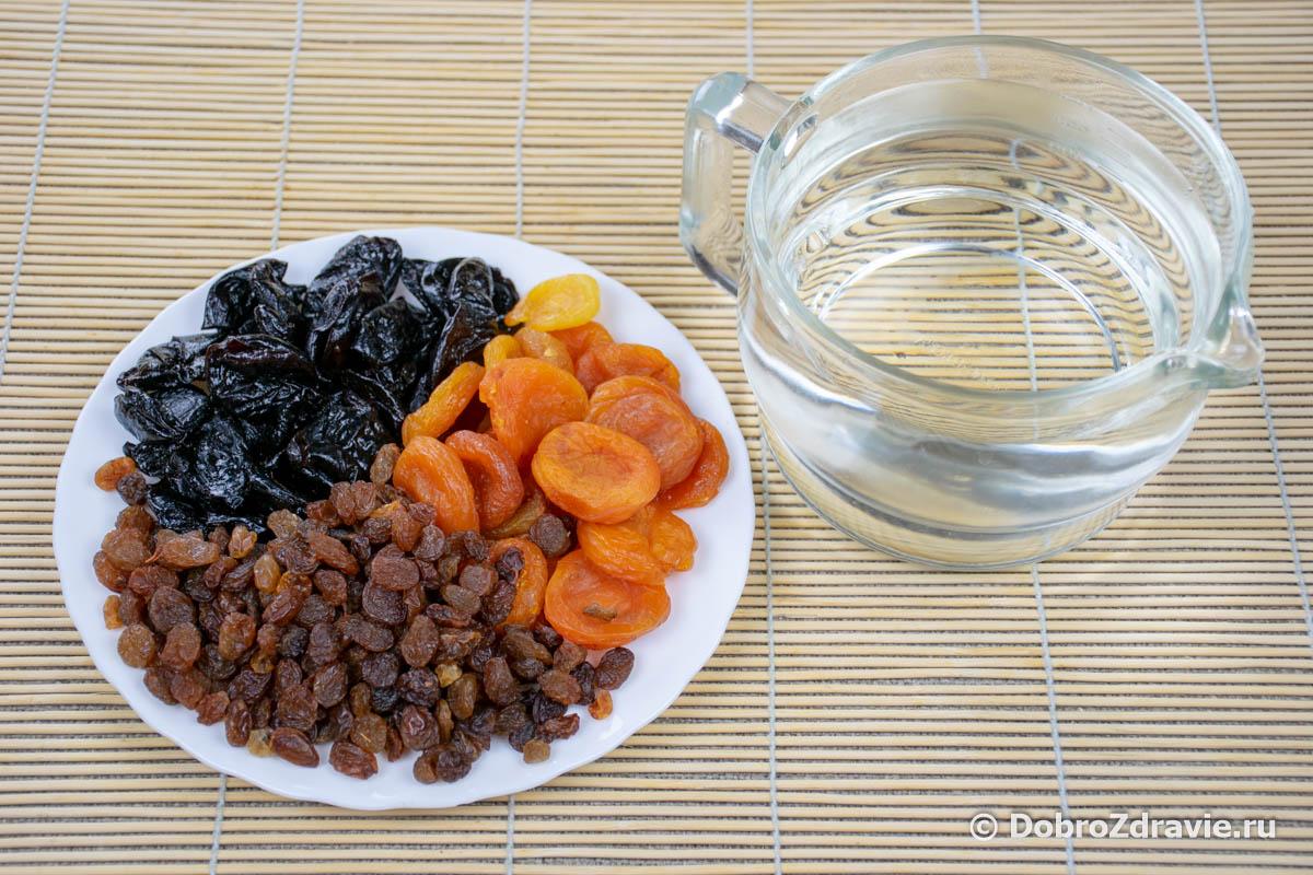 Компот из сухофруктов без сахара – пошаговый рецепт приготовления с фото