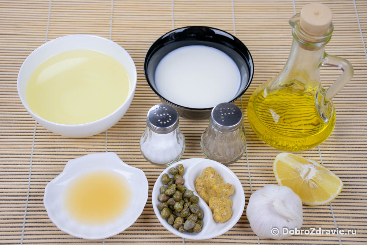 Соус «Цезарь», заправка в домашних условиях – вегетарианский пошаговый рецепт приготовления с фото