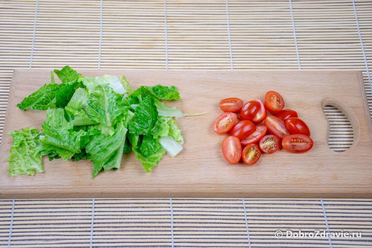 Салат «Цезарь» в домашних условиях – простой вегетарианский рецепт приготовления с фото