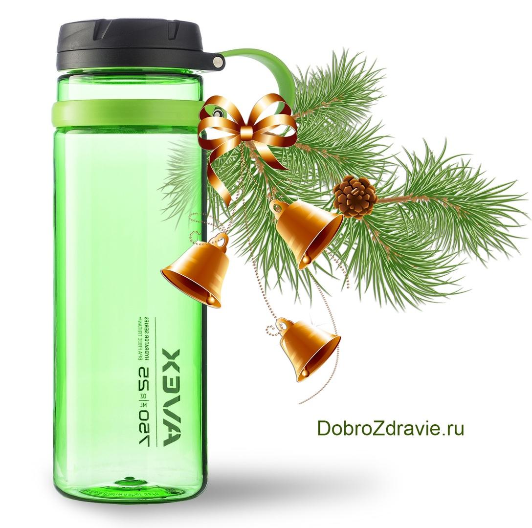 Розыгрыш новогоднего подарка - бутылка для воды «Contigo» из новой серии «Avex Fuse Green»