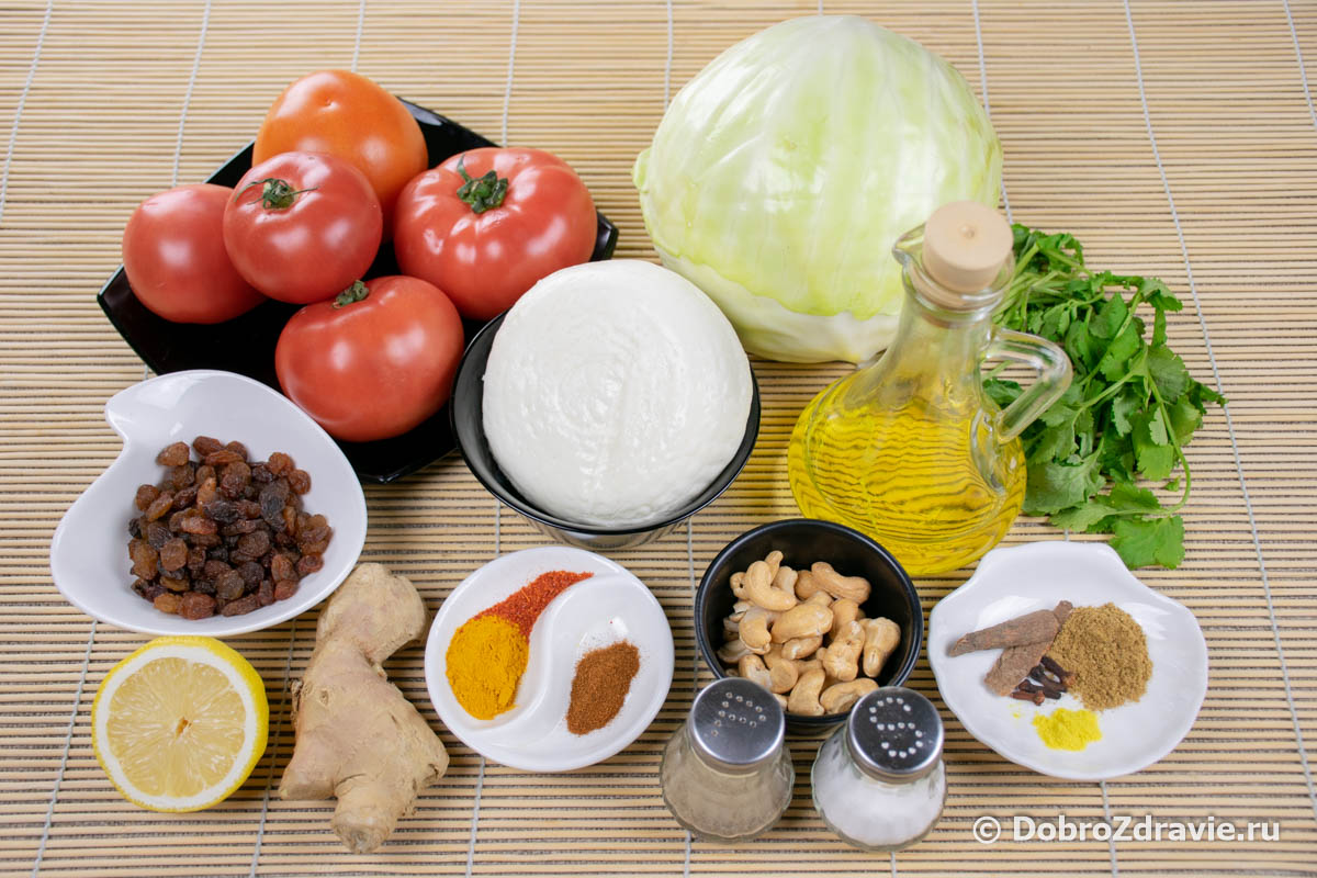 Бандгобхи кофта (голубцы с орехами и сыром) – индийский вегетарианский рецепт приготовления с фото
