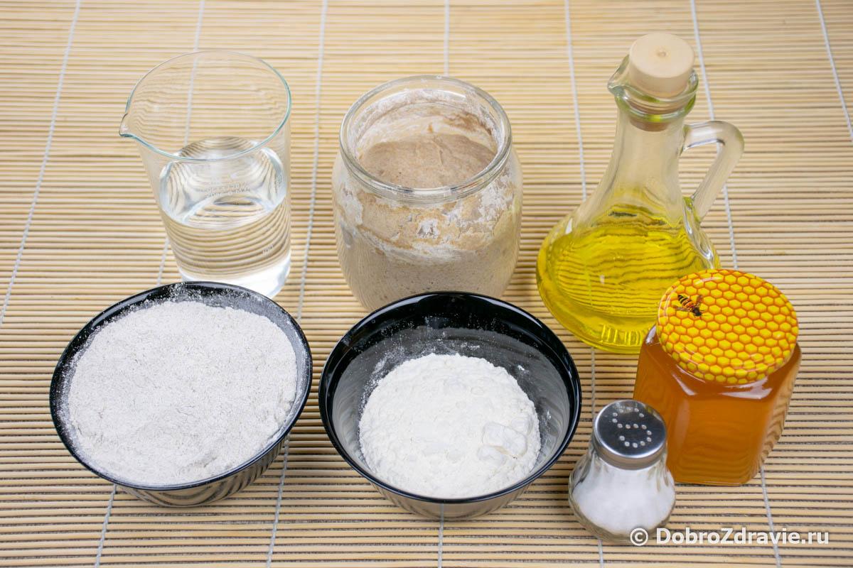 Ржано-пшеничный подовый хлеб на закваске - пошаговый рецепт приготовления с фото