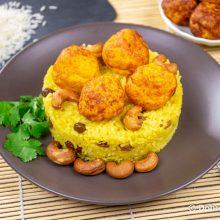 Кесар панир пулао – рис с шафраном и сырными шариками