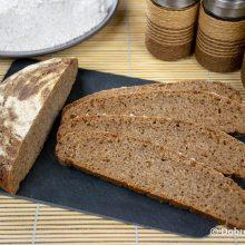 Ржано-пшеничный подовый хлеб на закваске